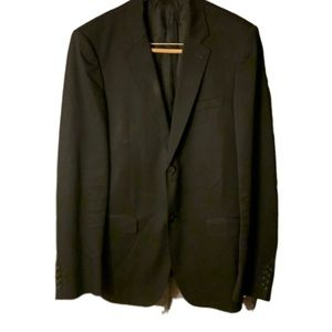 Calvin Klein Wool  Black Blazer 2 Button Coat 50.
